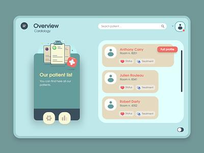 Medical Dashboard flat dashboard web app ux vector ui design