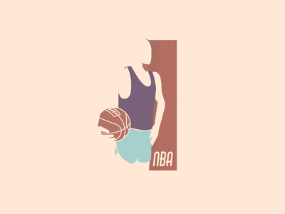 Basketball retro style playoff player basketball logo weeklywarmup illustration vector
