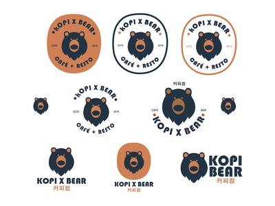 Kopi Bear Cafe Logos