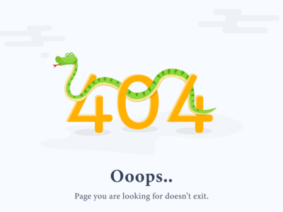 Website 404 Page Error