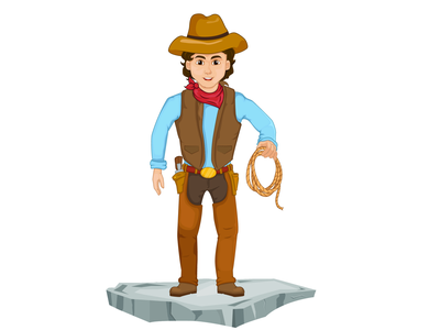 Rodeo Character Designing clipart vector design 2d character 2d art photoshop adobe ilustrator art concept cowboy rodeo character design