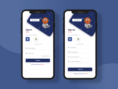 Sign In Sign Up Mobile App Design concept basketball sports app design sports design concept vector ux mobile app design uxdesign ui design illustration photoshop adobe ilustrator sign in login signup signin