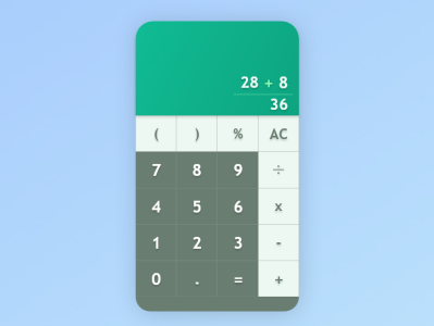 Calculator #DailyUI #004