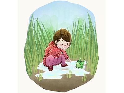 Katie illustration photoshop family childrens illustration cintiq dry media brush painting