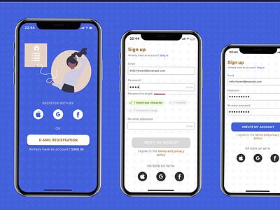 Sign Up app screen dailyui design app ui