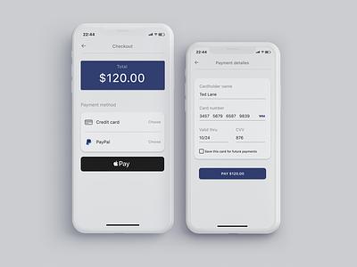 Daily UI #002 Credit Card Checkout design ux ui app dailyui