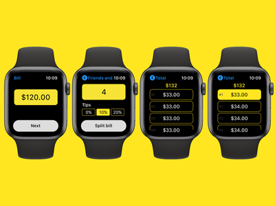 Daily UI #004 Calculator design ux ui watchos app dailyui