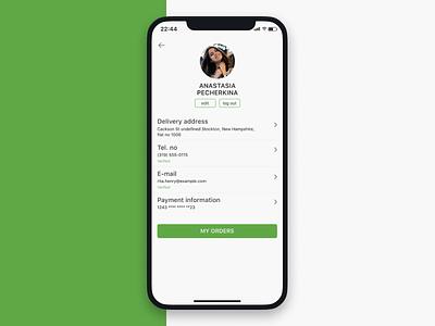 Daily UI #006 User Profile ux ui app design dailyui