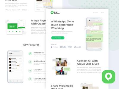 Pik Messenger - Landing Page branding design illustration web design webux webui uxdesign landingpage website design webdesign web uidesign ux ui