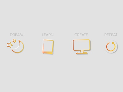 Icon set - Linkedin header