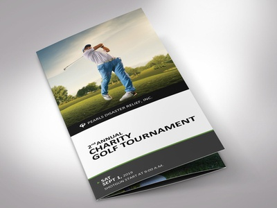 Charity Golf Tournament Brochure Word Publisher Template