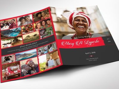 Remember Me Funeral Program Word Publisher Large Template candle light service 8 pages photo wedding program woman mother girl female tabloid layout large template memorial service bi-fold brochure bi-fold program publisher template word template obituary template black red funeral programs funeral program templates