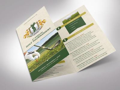 Charity Golf Tournament Brochure Template | Tri-Fold | Word