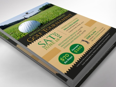 Charity Golf Tournament Flyer Word Publisher Template golf tournament birthday party tennis flyer soccer flyer non-profit fund-raising open house golf flyer black tee off invitation leaflet sports pamphlet charity golf gold green golf party golf club word template publisher template templates