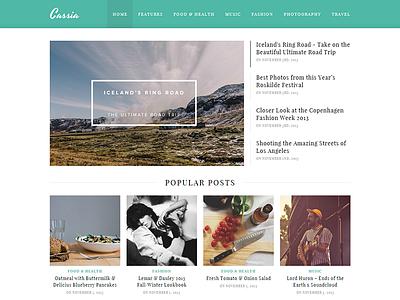 Cassia - WordPress Blog Theme cassia wordpress blog theme