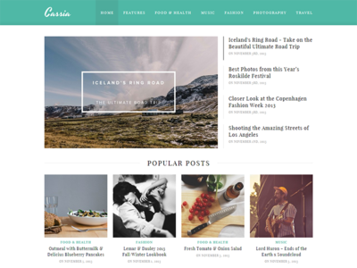 Cassia - WordPress Blog Theme