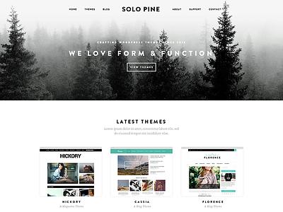WIP: New SoloPine site themes wordpress pine solopine website portfolio theme wp