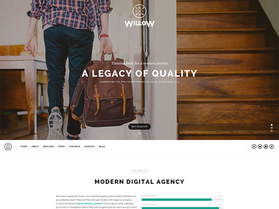 Willow a WordPress theme wordpress theme one page