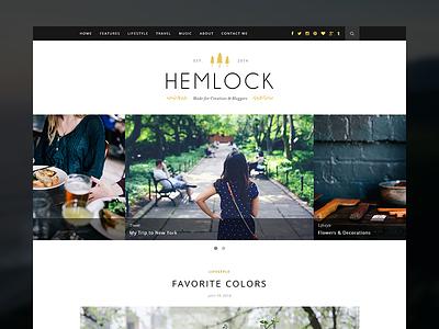 Hemlock Blog Theme theme blog blogger wordpress blogging