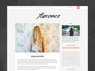 Florence Blog Theme wordpress blog theme blogger blogging
