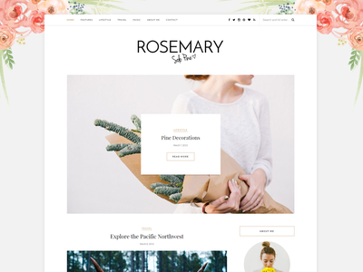 Rosemary - A WordPress Blog Theme theme blog rosemary wordpress wp blogging template slider articles