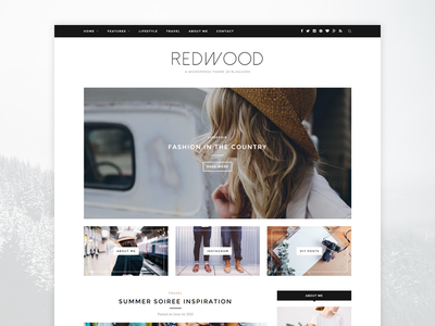 Redwood - A WordPress Blog Theme redwood template blogging blog theme wordpress