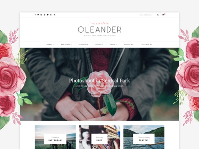 Oleander WordPress Theme shop blog theme wordpress