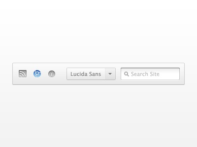 Freebie: Mini Toolbar navigation toolbar dropdown search ui gray blue freebie psd