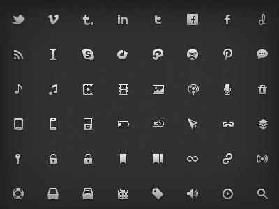Nano Icon Set: Live nano icon set 16px glyphs vector