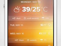 It's a weather app
