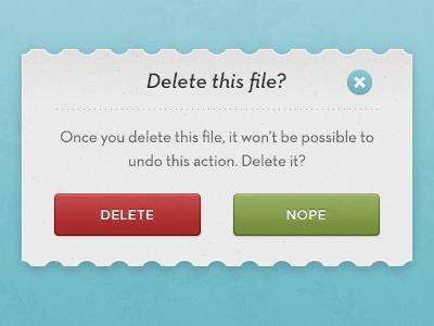 Modal Pop-up ui modal window popup buttons red green proxima nova neutra text