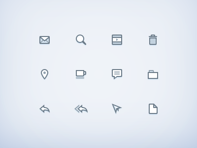 Onnomicons [WIP] icons glyphs 21px stroke desatured blue comment