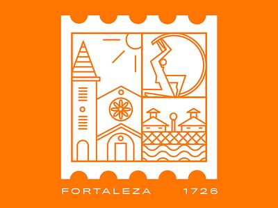 Week 01: Fortaleza sticker weekly warm-up learn grow fortaleza city city illustration weekly sticker dribbbleweeklywarmup dribbble two colors design vector illustration adobe illustrator