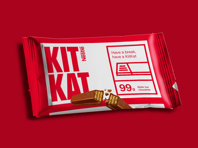 Week 03: KitKat chocolate candy packagedesign warm-up practice kitkat chocolate candy branding weekly warm-up design dribbbleweeklywarmup