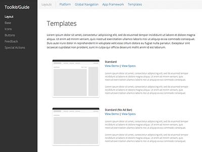 Starting a UI Toolkit ui toolkit ux style guide visual design app framework