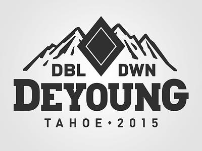 Bachelor Party T-Shirt mountains diamond skiing tahoe gambling blockprint tshirt illustration typography