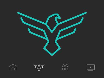 Eagle Icon flat ui wings bird eagle menu iphone app icons