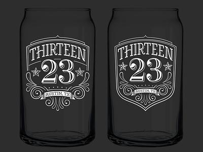 Adding a shield shield emblem crest stars austin flourishes beer label glass pint