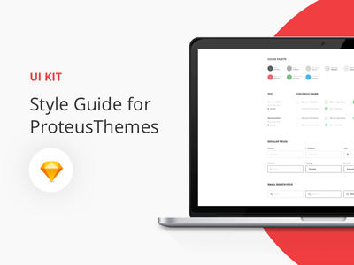 Free UI Style Guide Kit freebie free web design ui kit layout input fields ux