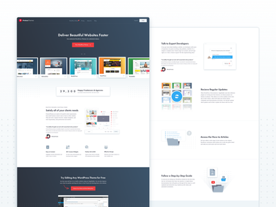 ProteusThemes Website Update layout pricing icons graphics wordpress redesign ui ux web design