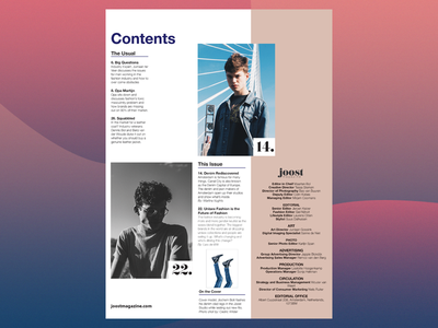 Contents and Masthead: JOOST