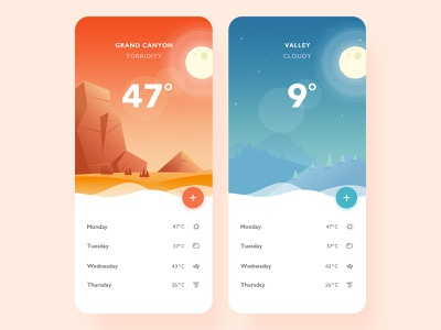 Brilliant brand illustrations designs app weather neumorphism minimal logo icon design animation ux ui illustration flat