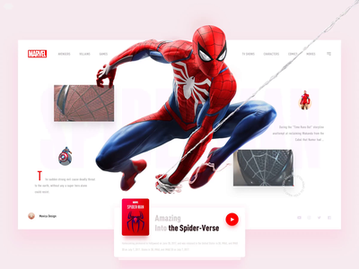 🕷️ Amazing Spider-Man 🕸 typography clean ui neumorphic application immersion game ui mobile app mobile ui web ui flat principle superman marvel game design ux animation neumorphism illustration app design