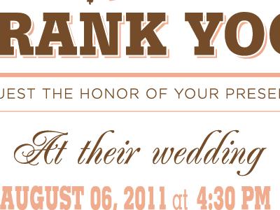 Wedding Invitation - middle wedding invitation letterpress