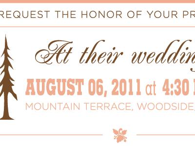 Wedding Invitation - bottom wedding invitation letterpress