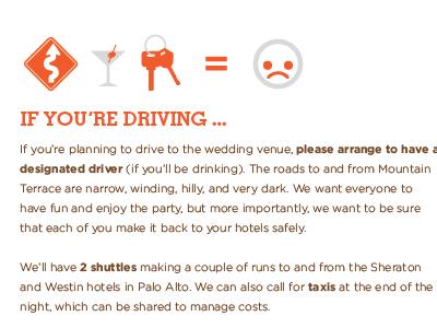 treacherous roads letterpress wedding