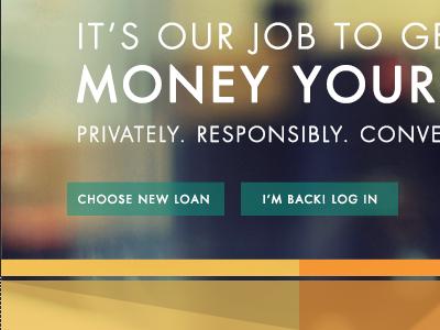 Landing Page nav loans financial bank money ui ux website landing page buttons