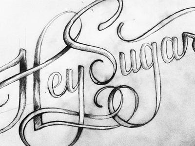 HeySugar Studios handlettering feminine script etsy typography swash custom texture ui ux flat illustration
