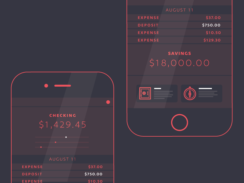 Mobile Banking   Social not sharks fintech banking wireframe mobile web iphone uiux flat app