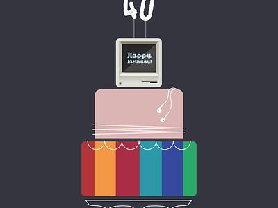 Happy Birthday, Apple! wires headphones steve jobs rose gold ios mac birthday cake apple